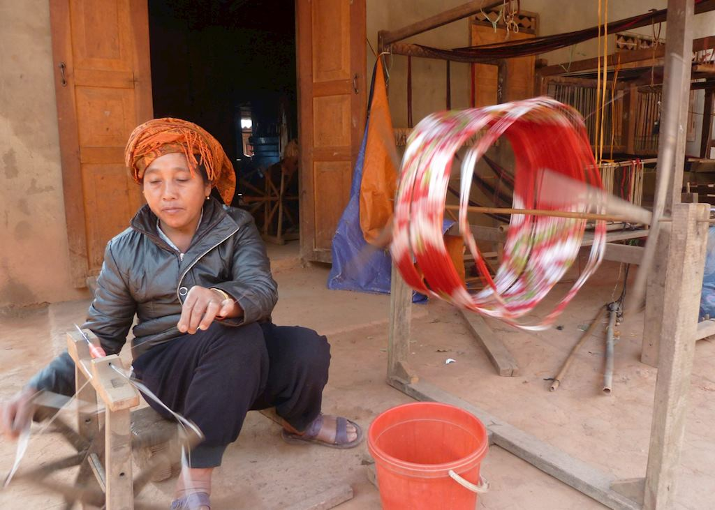 Local weaving village