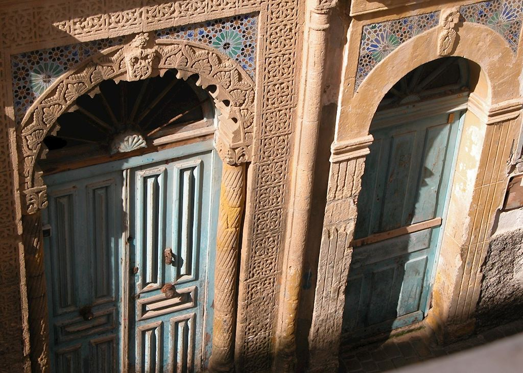 Mosaic doors in Essaouira, Morocco