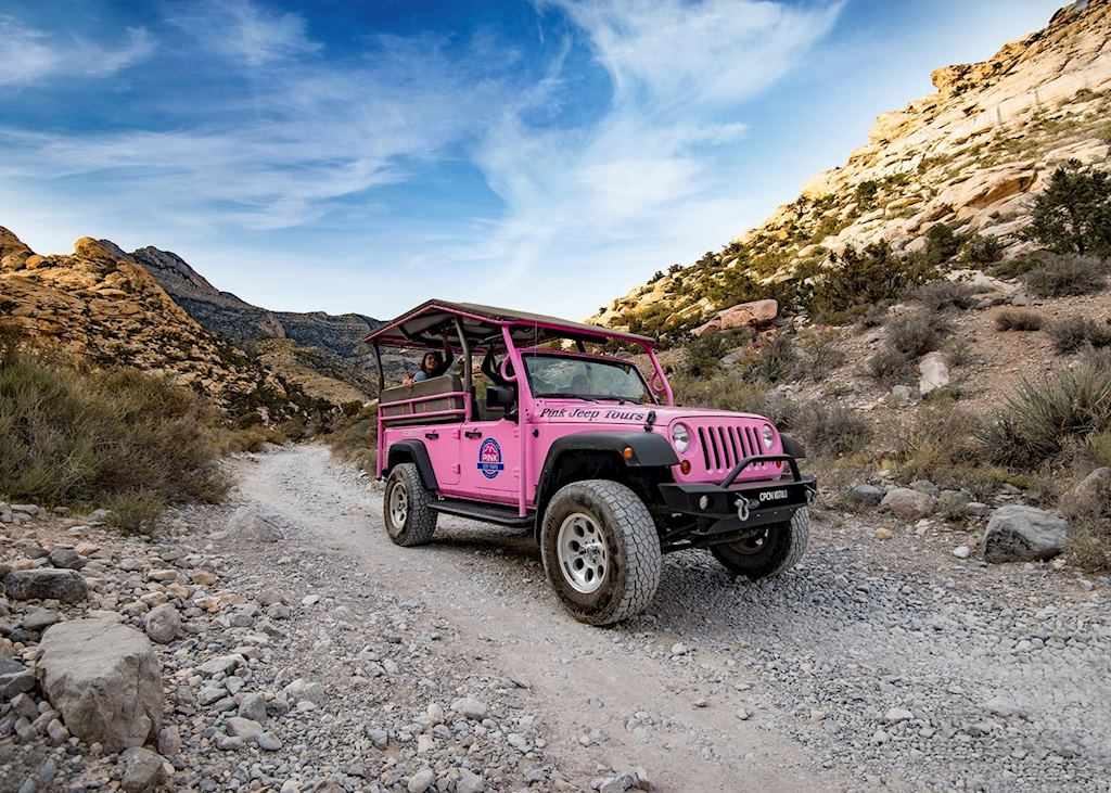 Pink jeep Red Rock Canyon Classic Rocky gap