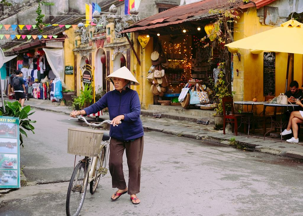 Local with bike, Hoi An