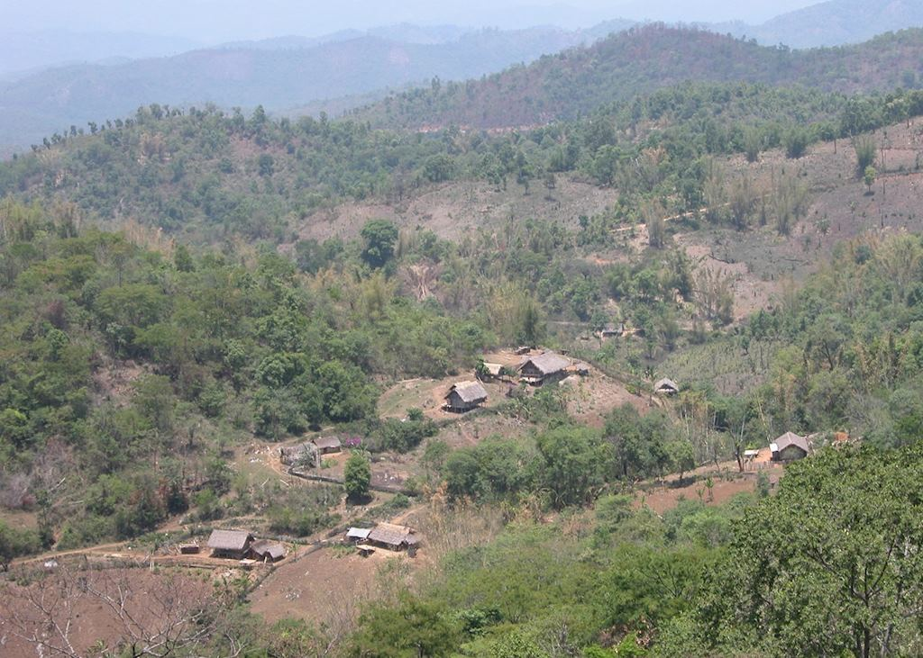Shan countryside on the Burma Road