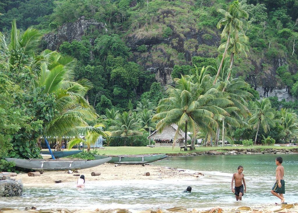Children at play, Vanua Levu