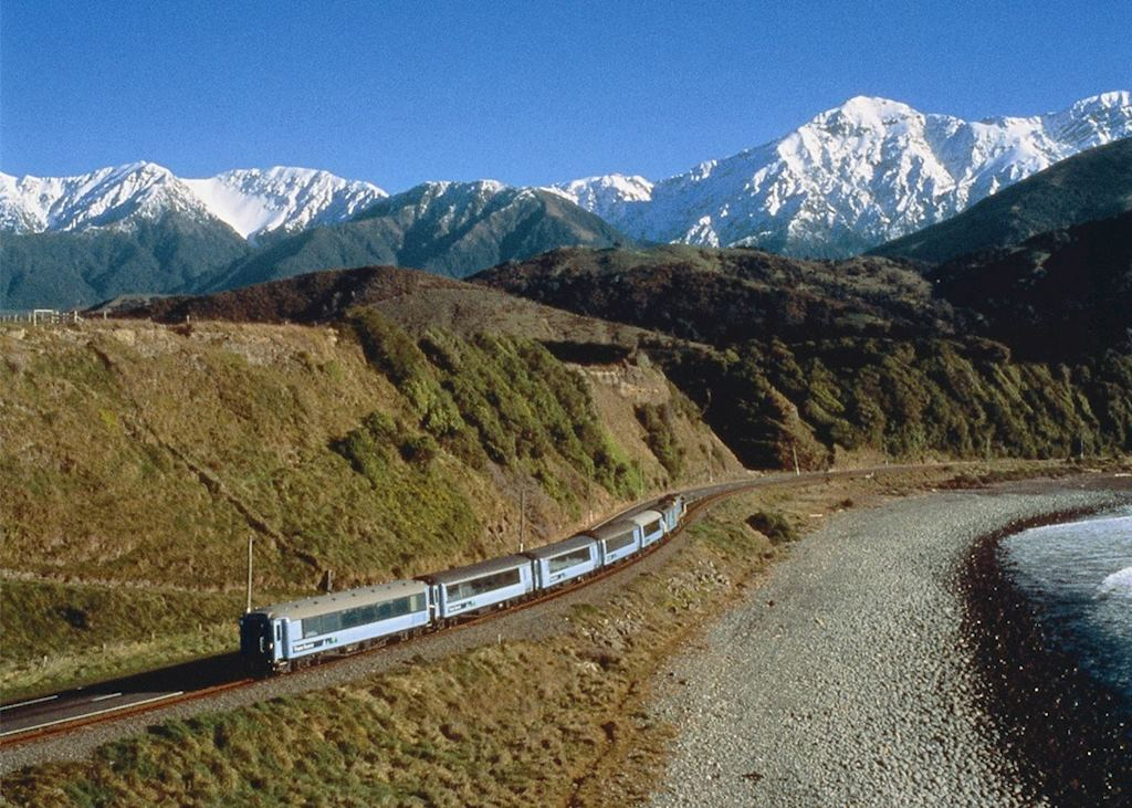 The Coastal Pacific train, New Zealand