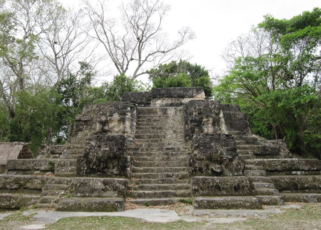 Mayan ruins at Uaxactun