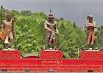 Statues outside military academy, Pyin U Lwin
