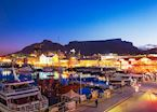 Iconic Table Mountain and Cape Town Waterfront