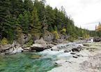 Mountain river in Glacier National Park