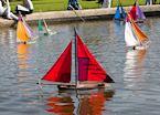 Miniature sailboats at a park, Paris