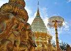The stupah of the Wat Phra That Doi Suthep, Chiang Mai, Thailand