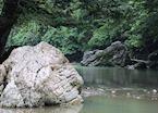 River scenery in Tangkahan, Sumatra