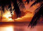 Sunset over Aitutaki, The Cook Islands