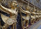 Garuda Statues, temple of the Emerald Buddha, Grand Palace, Bangkok