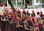 Monks queue for lunch, Amarapura