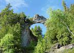 Natural rock arch, Mackinac Island