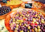 Olives for sale at a market, Avignon
