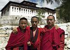 Young monks at Paro Dzong, Paro, Bhutan