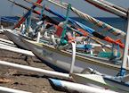 Local fishing boats, Amed, Indonesia