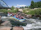 Rafting the South Platte River, near Denver