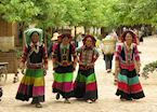 Pumi ladies come to town for market day, Shaxi