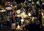 Metal craftsman hanging lamps