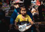 Child on Motorbike in Siem Reap