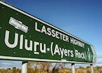 Road sign near Uluru