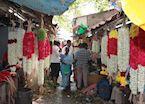 Flower market, Pondicherry, India