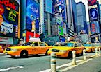 Yellow taxis. New York, New York