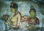 Wall frescos, Sigiriya, Sri Lanka