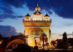 Patuxai Monument in Vientiane, Laos