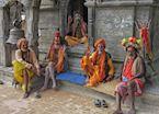 Sadus at Pashupatinath, Kathmandu, Nepal