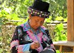 Hmong lady sewing, northern Thailand
