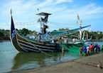 Fishing boat in Perancak near Medewi, Indonesia