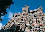 Detail of Meenakshi Temple, Madurai