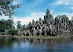 View of The Bayon, Siem Reap