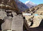 Mani stones, Everest region, Nepal