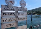 Ferry signs on Lake Maggiore