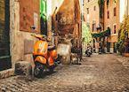 Street view in Trastevere, Rome