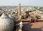 Delhi skyline as seen from Jama Masjid, India