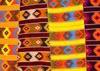 Colourful textiles, Oaxaca
