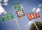 Route 66 road signs