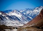 Mountain scenery around Mendoza, Argentina