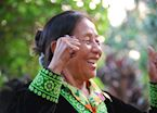 A delighted Lahu lady, Golden Triangle, Thailand