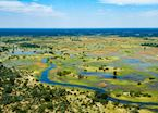 Beautiful floodplains that make up the Okavango Delta