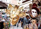 Carnival Masks in Street Market, Verona