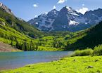 Maroon Bells in Summer, Aspen
