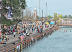 The ghats on the river Ganges, Haridwar