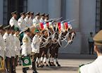 The changing of the guards outside the Presidential Palace
