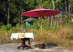 Tented camp at Phnom Kulen