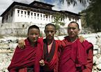Young monks at Paro Dzong, Paro, Bhutan